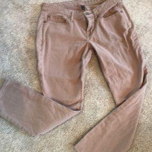Tan denim skinny jeans